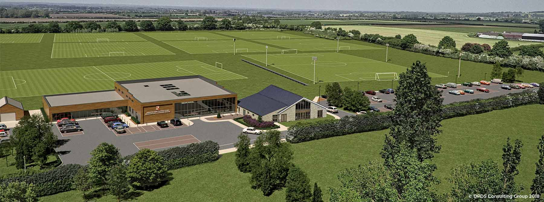 Computer Generated Image of STFC Training Ground at Highworth